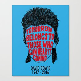 Bowie Obituary Silhouette Canvas Print