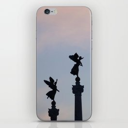 Vittoriano angels at sunset 1 iPhone Skin