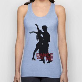 Dance with me - Ink Painting +  Typography Wall Art Home Decor Black and White Music  Unisex Tank Top