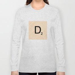 Scrabble Letter D - Large Scrabble Tiles Long Sleeve T-shirt