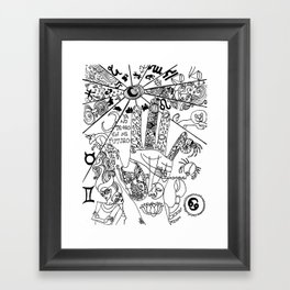 ¿qué ves? Framed Art Print