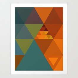Triangles Colors City 2 Art Print