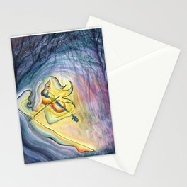 Lindsey Stirling Fan Art - First Light - Watercolor Painting Stationery Cards