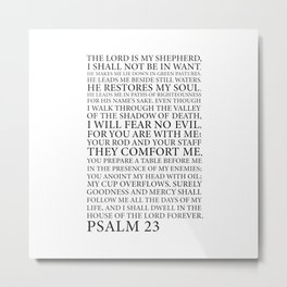 Psalm 23 The Lord Metal Print