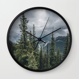 Landscape | View of Banff | Mountain Top Wall Clock