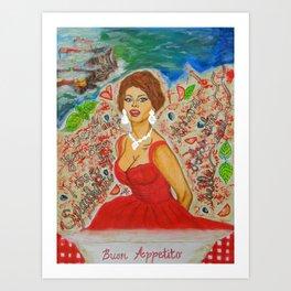 Ain't She A Dish, Sophia Loren! Art Print