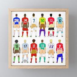 Soccer Butts Framed Mini Art Print