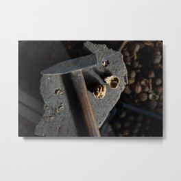 Hammer and walnut Metal Print
