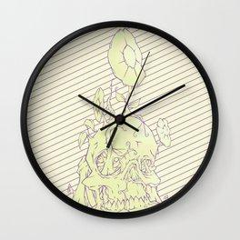 Skull earth bright Wall Clock