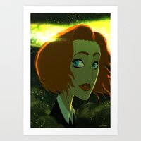 scully Art Prints featuring Scully  by Annalisa Leoni