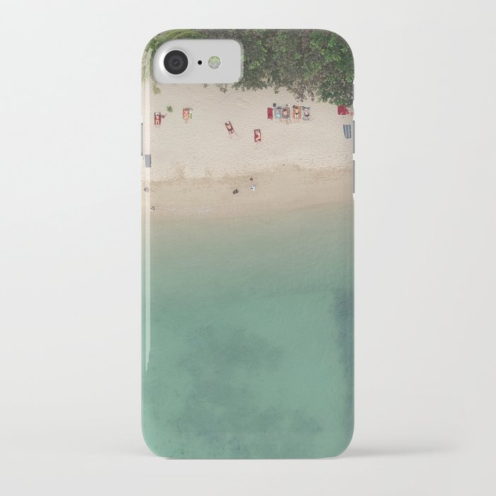 Aerial Secret Beach Koh Phangan Thailand iPhone Case