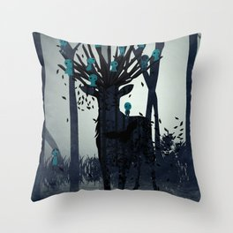 Mononoke Forest Spirits Throw Pillow