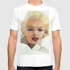 Monroe. Mens Fitted Tee LARGE White