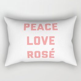 Peace Love Rosé Quote Rectangular Pillow