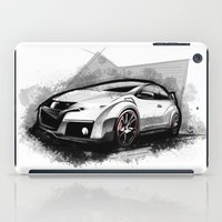 honda iPad Cases featuring Honda Civic Type-R by an.artwrok