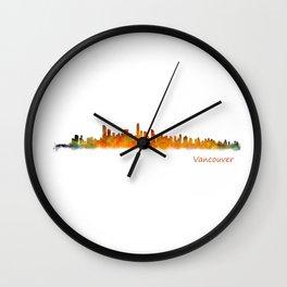 Vancouver Canada City Skyline Hq v01 Wall Clock