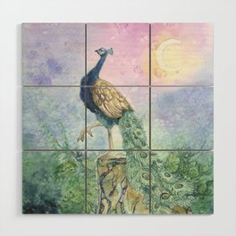 The Peacock Wood Wall Art