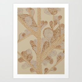 earthy swirls Art Print