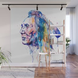 Sioux Warrior Watercolor Wall Mural