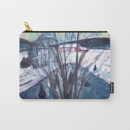 Edvard Munch - Winter Night, Ekely Carry-All Pouch