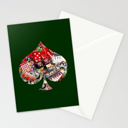 Spade Playing Card Shape - Las Vegas Icons Stationery Cards