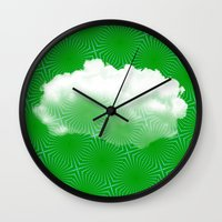 cloud Wall Clocks featuring Cloud by Mr and Mrs Quirynen