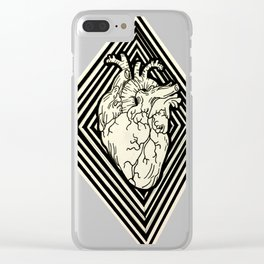 Heart Diamond Clear iPhone Case