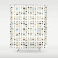 bauhaus Shower Curtains featuring bauhaus puppets by brokkoletti