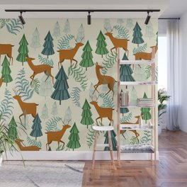 Deers in the forest Wall Mural