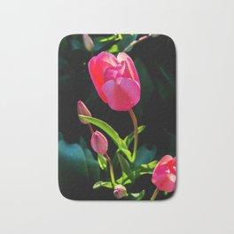 Spring tulips Bath Mat