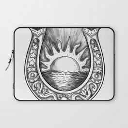 Horseshoe Sun and Sea Tattoo Laptop Sleeve