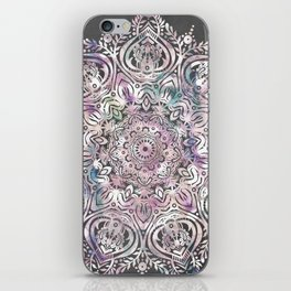 Dreams Mandala - Magical Purple on Gray iPhone Skin