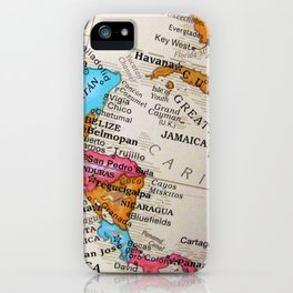 Map Art iPhone Case