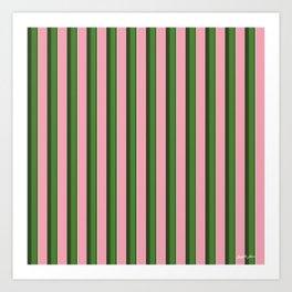 Pink Roses in Anzures 3 Stripes 2V Art Print
