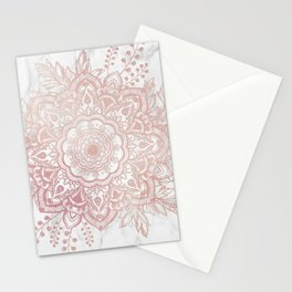 Queen Starring of Mandala-White Marble Stationery Cards