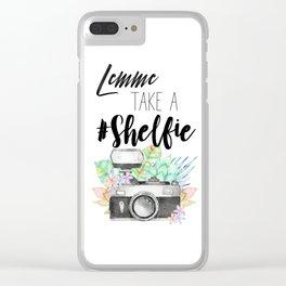 Lemme Take a #Shelfie Clear iPhone Case