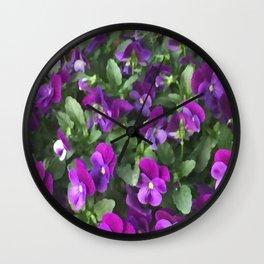 Botanical Florals Zencolor2 Wall Clock