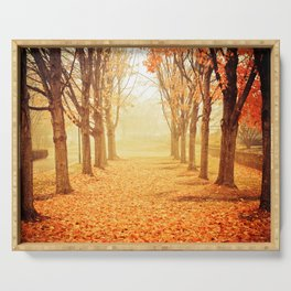 The Poetry of Autumn Serving Tray