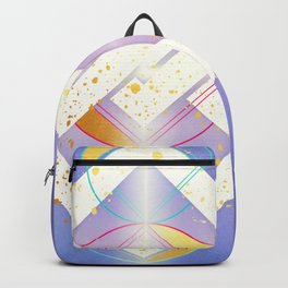 Linked Lilac Diamonds :: Floating Geometry Backpack
