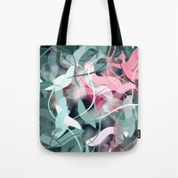 novelty Tote Bags featuring Spring Birds by Moody Muse