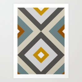 Mid West Geometric 04 Art Print