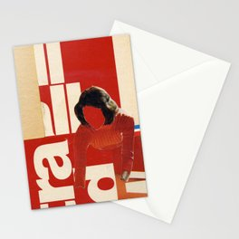 Red in the face Stationery Cards