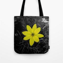 Yellow Flower - Colour Splash Tote Bag