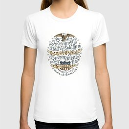 small government, larger freedom T-shirt