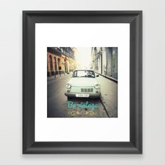 Be Vintage! Framed Art Print