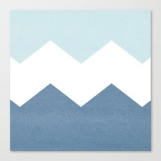 BLUE BLOCK CHEVRON Canvas Print