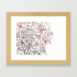 Floral Jacquard - watercolor painting Framed Art Print