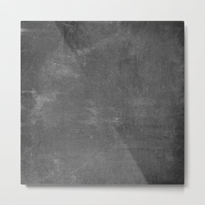 Gray and White School Chalk Board Metal Print