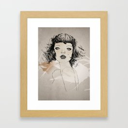 a hot french lady Framed Art Print