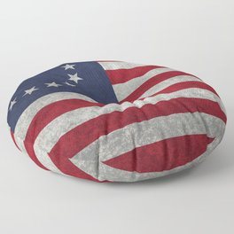 The Betsy Ross flag - Vintage grunge version Floor Pillow